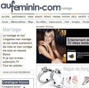 aufeminin mariage