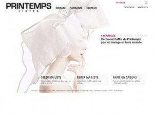 catalogue liste de mariage printemps