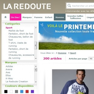 La Redoute   Sport, le catalogue sports de La Redoute