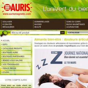 Auris, le catalogue de la magnétothérapie