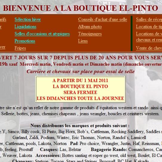 catalogue équitation el-pinto