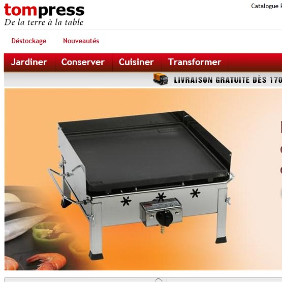 catalogue articles de cuisine tom press