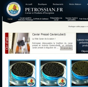catalogue caviar petrossian