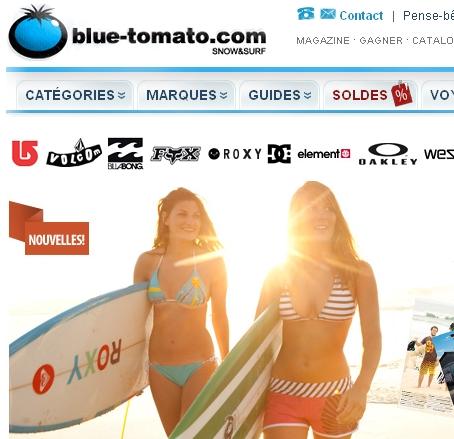 Blue Tomato, vêtements sport