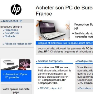 catalogue ordinateurs PC hp hewlett packard