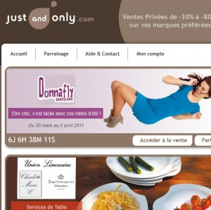 VENTE PRIVÉE JUST AND ONLY