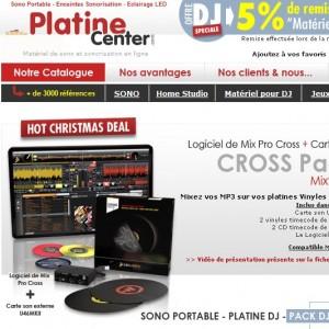 catalogue matériel dj platine center