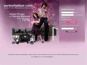 catalogue grandes marques sur invitation