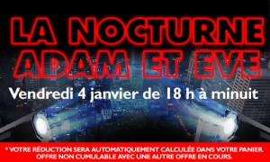 Nocturnes Adam et Eve 25 % réduction