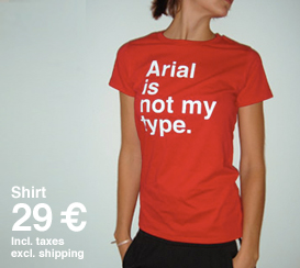 arial tshirt red women