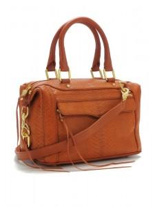 brown alligator sac rebeccaminkoff accessoire luxe