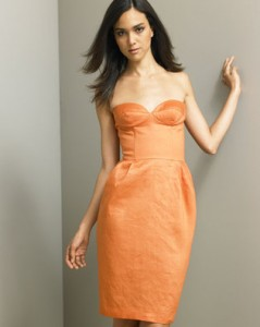 stella mccartney orange corset dress